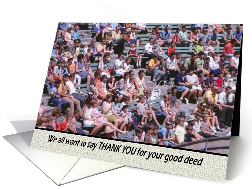 Good Deed Thank You - Crowd card (769777)