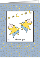 Thank you for the baby gift for our twin boys card
