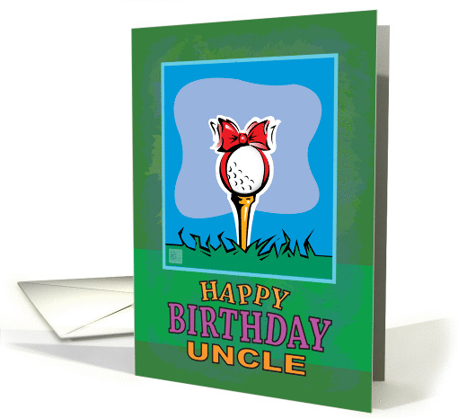 Uncle Happy Birthday Golf ball present card (941790)