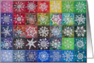Crocheted Snowflake Tiles card