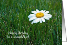 Aunt's Birthday-daisy in grass card