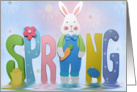 Easter, spring, bunny card