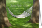 Father's Day hammock between two oak trees card