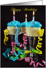 Birthday cupcakes with candles card