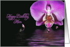birthday for mom with orchid reflection and bubbles card