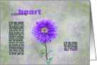 Daughter's birthday purple dahlia with inspirational verse card