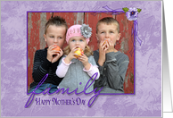 Mother's Day photo card for Mom from children card