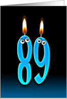 89th Birthday humor with candles and eyeballs card