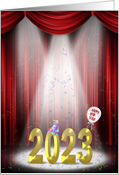 2021 New Year invitation for New Year party with confetti card