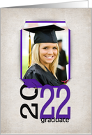 2019 Graduation slit corner photo card for graduation party invitation card