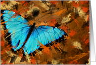 birthday butterfly abstract on grunge card