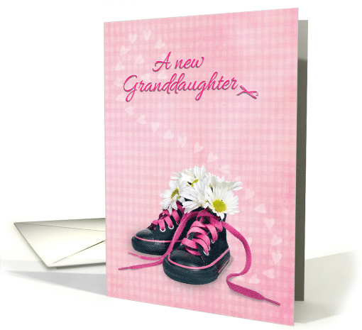 New Granddaughter daisy bouquet in little girl sneakers on... (760474)