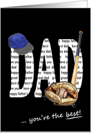 Baseball theme for Father's Day card