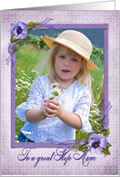 pansy photo card for Step Mom's Mother's Day card