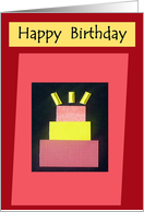 Happy Birthday - For Student card