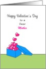 For Mother Valentine's Day Greeting Card-Box-Hearts-Custom Text card