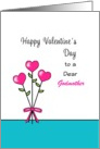 For Godmother Valentine's Day Greeting Card-Heart Flowers-Custom card