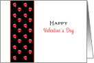 Valentine's Day Greeting Card-Red Heart over Black Design card