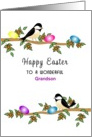 For Grandson Easter Greeting Card-Chickadees-Custom Text card