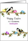 For Goddaughter Easter Greeting Card-Chickadees-Custom Text card