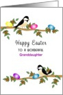 For Granddaughter Easter Greeting Card-Chickadees-Custom Text card