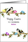 For Mother Easter Greeting Card-Chickadees-Custom Text card