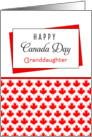 For Granddaughter Canada Day Greeting Card - Maple Leaf Background card