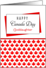 For Goddaughter Canada Day Greeting Card - Maple Leaf Background card