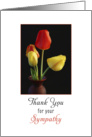 Sympathy / Condolence Thank You for Your Sympathy Greeting Card-Tulips card