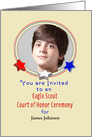 Custom Photo Card Eagle Scout Party Invitation-Court of Honor-Stars card
