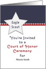 Eagle Scout Ceremony Party Invitation-Court of Honor-Custom Card
