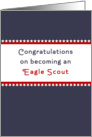 Eagle Scout Greeting Card-Court of Honor Congratulations Card