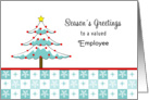 For Employee Christmas Card-Christmas Tree & Snowflakes card