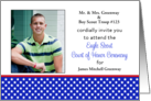 Custom Eagle Scout Court of Honor Photo Card Invitation-Red-White-Blue card