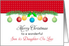 For Son & Daughter-In-Law Christmas Card-Merry Christmas-Ornaments card