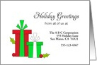 From Business Christmas Card-Custom-Red & Green Christmas Presents card