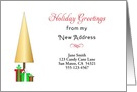 My New Address Christmas Card-Customizable-Christmas Tree-Presents card