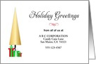 From Business Christmas Card-Customizable-Christmas Tree & Presents card