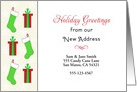 From Our New Address Christmas Card-Customizable-Stockings-Presents card