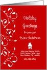 Our New House Christmas Card-Custom-New Address-We've Moved card