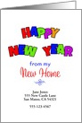 My New Address New Year Card Customizable Text-Happy New Year card