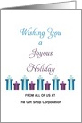 From Business Christmas Card-Customizable Text-Joyous Holiday-Presents card