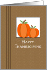 General Thanksgiving Card with Two Pumpkins card