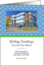 From Business New Address Christmas Photo Card Announcement Custom card
