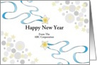 Business New Year Greeting Card with Star Design-Customizable Text card