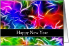 New Year Card-Colorful Background Swirls card