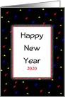 Business Happy New Year Greeting Card - Customizable Text card