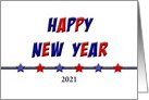 Patriotic Happy New Year Greeting Card Customizable Text card