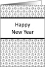 New Year Greeting Card with Black and White Design card