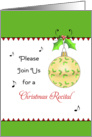 Christmas Recital Invitation, Ornament, Holly, Berry card